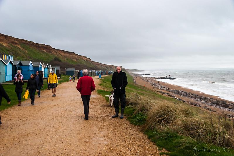 A cold, blustery walk at Barton on Sea