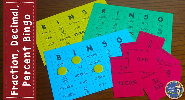 Best of 2016, fraction decimal percent bingo