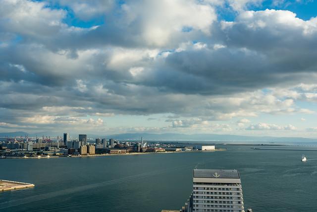 ポートタワーから南の方角を見た写真