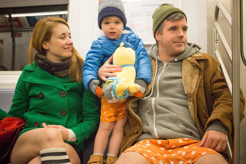 Thousands of People Worldwide Partake in Improv Everywhere's 16th Annual No Pants Subway Ride