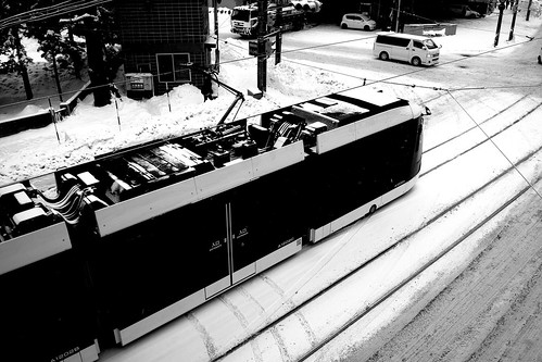 Tramcars at Sapporo on DEC 29, 2016 (38)