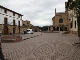 Obanos Plaza with San Juan Bautista Church