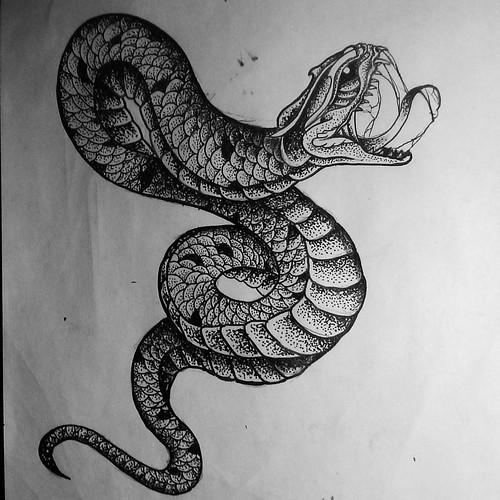 evil snake drawings draw sketch design tattoodes flickr. Black Bedroom Furniture Sets. Home Design Ideas