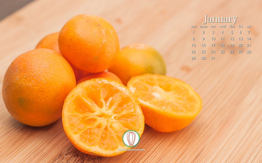 Foodies Freebie: January 2017 Wallpaper Collection