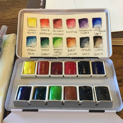 New Sennelier travel watercolor set.