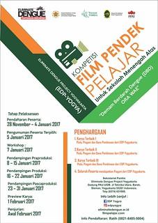 Poster Kompetisi Film Pelajar EDP Yogya 2017