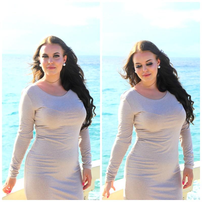 Zalando beige dress