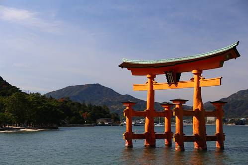 O-Torii (Grand Torii Gate) Itsukushima Shrine Miyajima Island at high tide