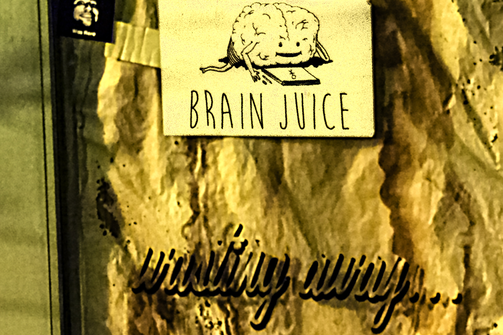 BRAIN JUICE wasting away--Center City (detail)