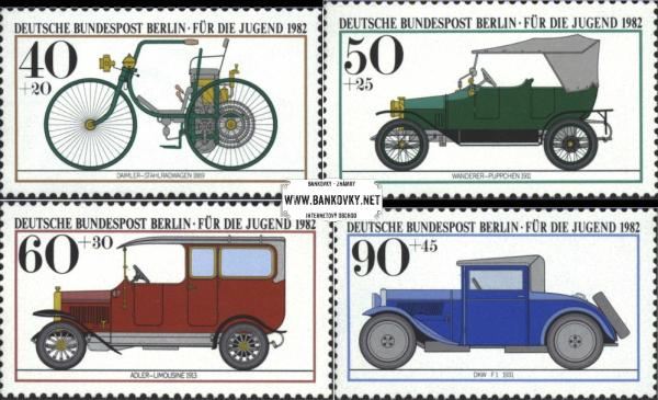 Známky Západný Berlín 1982 Autá, motorky, MNH séria