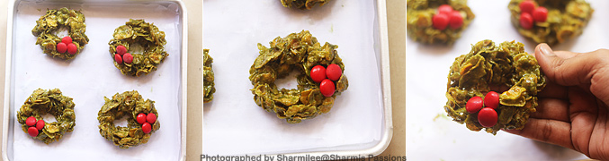How to make Christmas Cornflake Wreath Cookies Recipe - Step8