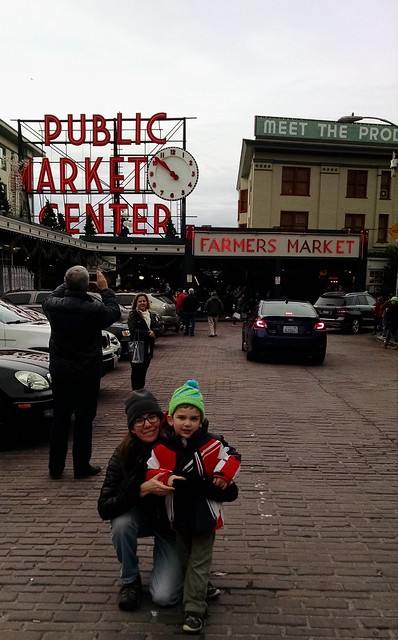 Katie & Benji at Pike Place Market 2016
