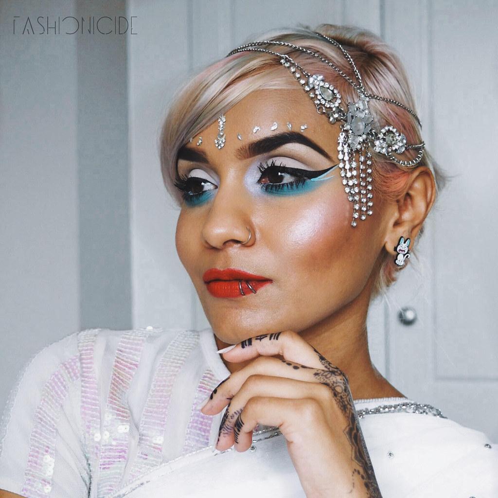 Bleach dye Indian Asian hair white blonde