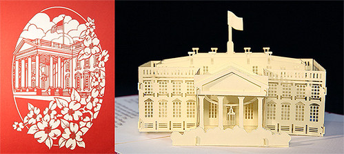 LegacyPop Pop-Up Card - White House