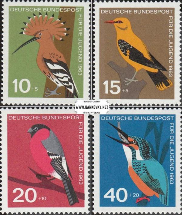 Známky Západné Nemecko 1963 Vtáci, nerazítkovaná MNH séria