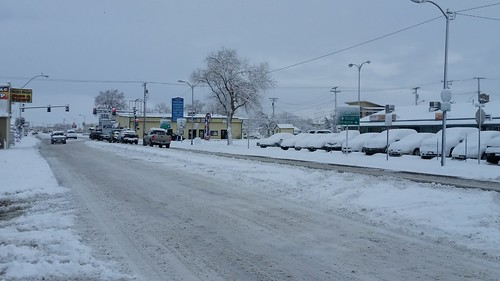 Downtown Fernley in the Snow