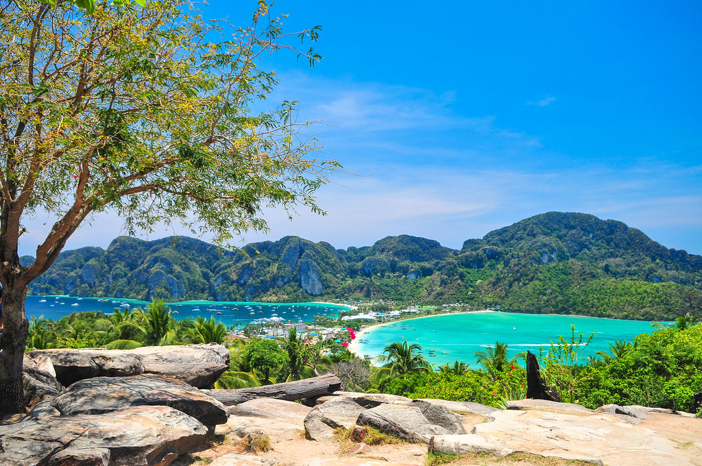 Blue Ocean View Point At Phi Phi Island Thailand