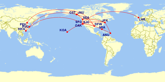 Flight map 2016