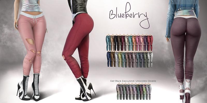 Blueberry Minerva Joggers @ Collabor88