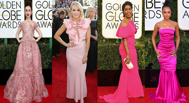 Who wore what at 74th Golden Globe Awards 2017, pink dresses