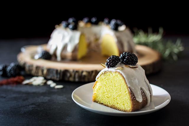 Saffron Bundt Cake with Cardamom Glaze