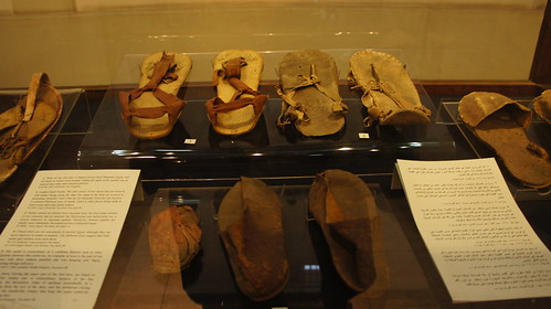 Ancient Egyptian leather sandals and shoes