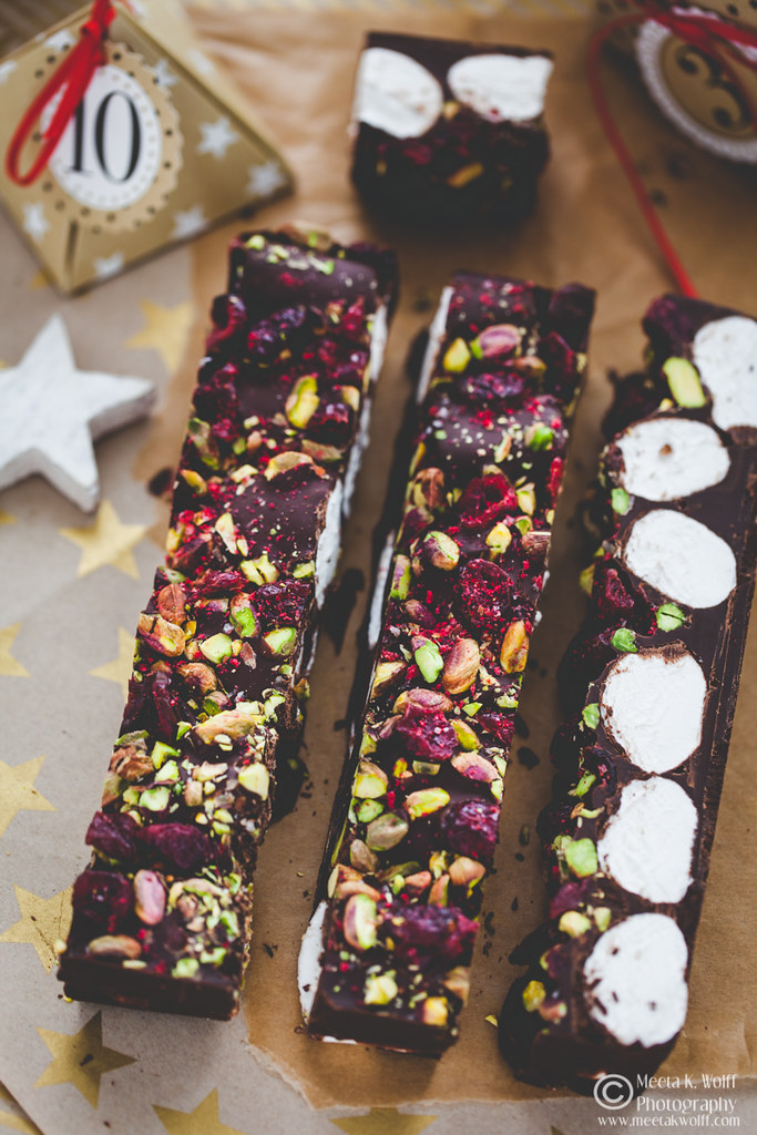 Dark Chocolate Marshmallow Cranberry Pistachio Raspberry Bark by Meeta K. Wolff-WM-0086