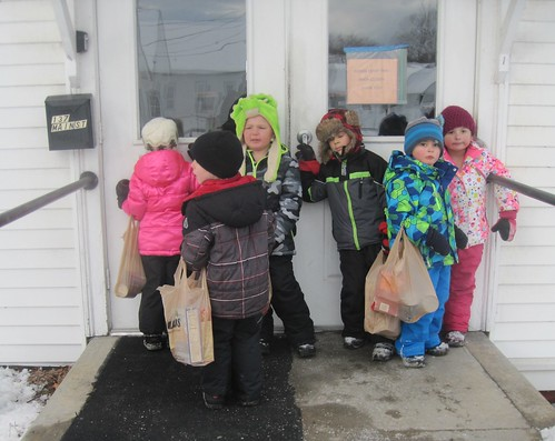 delivering the donations to the food pantry