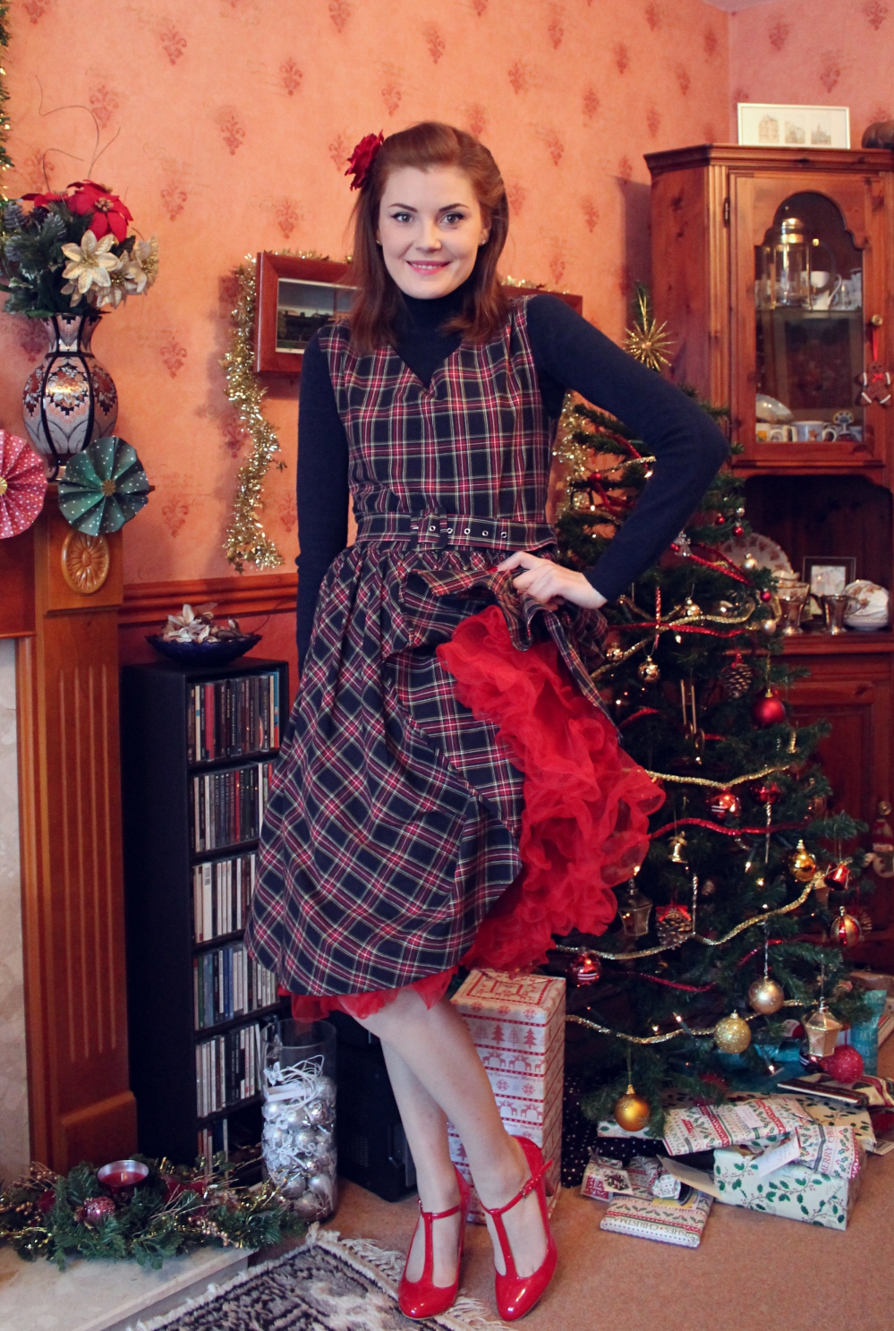 Christmas Outfit Dolly and Dotty Petal dress via www.lovebirdsvintage.co.uk
