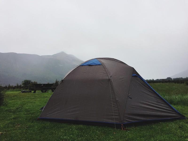 Campsite in Mount Aspiring National Park