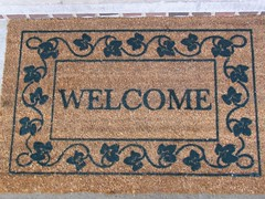 New welcome mat from my parents | by mcclouds