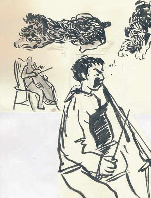Sketchbook #101: Cello Practice