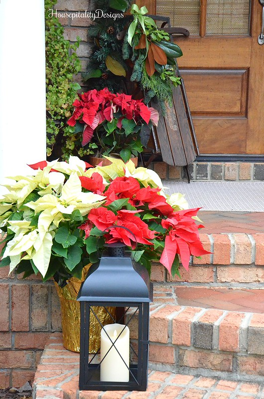 Poinsettias-Porch-Christmas-Lantern-Sled-Housepitality Designs