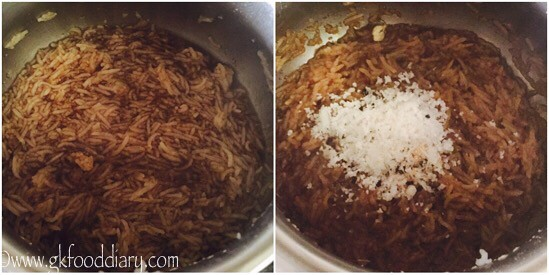 Jaggery Rice Recipe for Toddlers and Kids - step 3