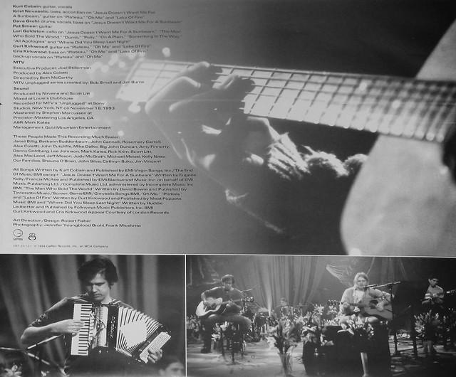 "NIRVANA Unplugged in New York MTV 12"" vinyl LP"