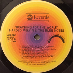 HAROLD MELVIN AND THE BLUE NOTES:REACHING FOR THE WORLD(LABEL SIDE-B)