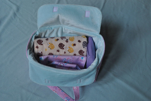 doll diaper bag filled