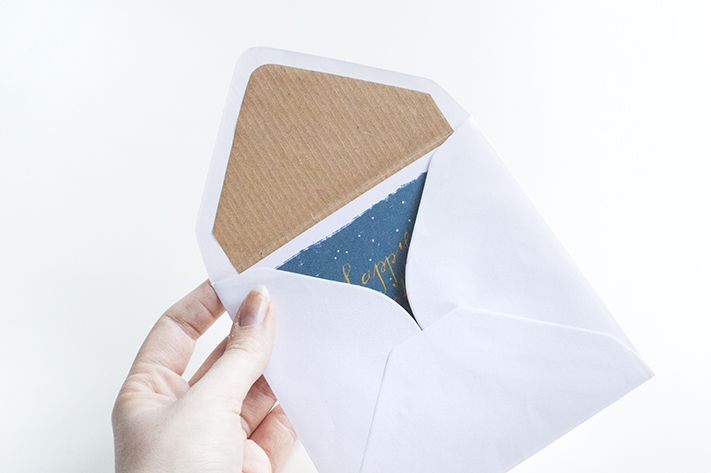 DIY envelope liner handmade