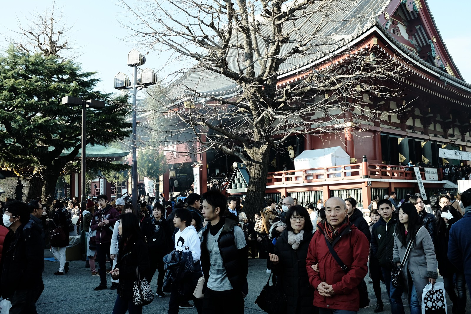 The Asakusa new year by FUJIFILM X100S.