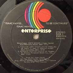 ISAAC HAYES:...TO BE CONTINUED(LABEL SIDE-B)