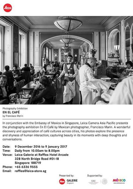 """Exposición """"En el Café"""" del fotógrafo mexicano Francisco Marín en la Galería Leica de Singapur"""
