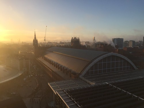 London from the roof of the Google building in Kings Cross