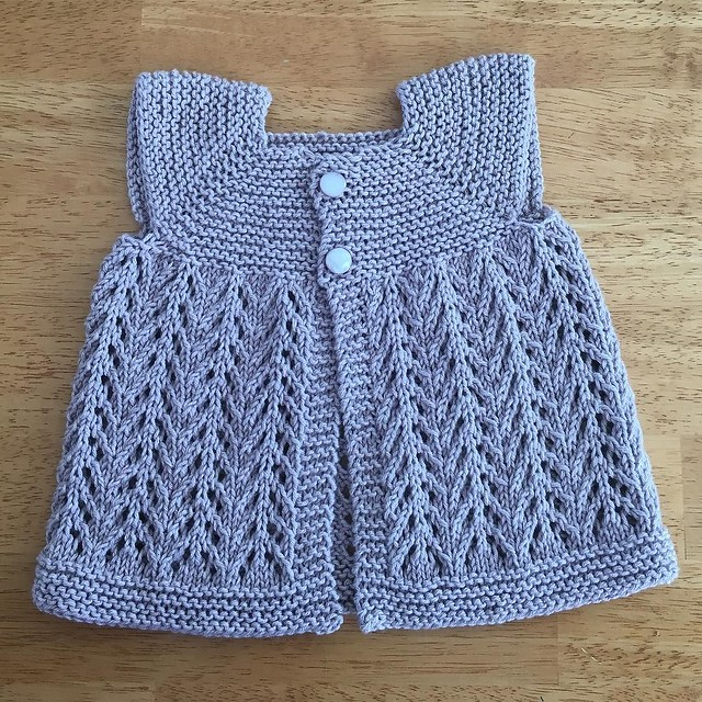 Little sweater for my niece. 💜 #knitting