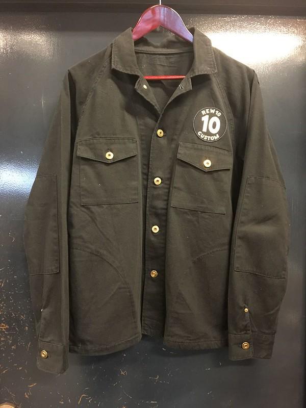 REW10 WORK JACKET BLACK MOLESKIN