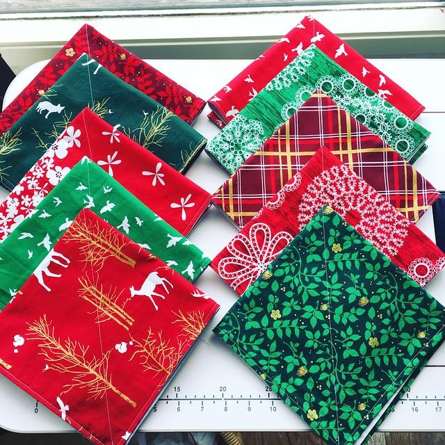 Winter napkins