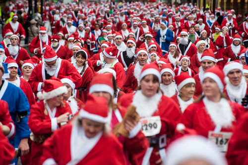 2015 The Medicash Santa Dash Liverpool