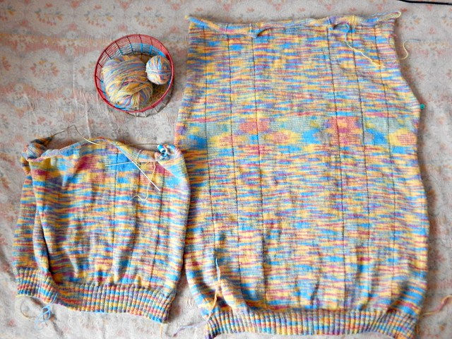 свитер: спинка и половина переда | HoroshoGromko.ru