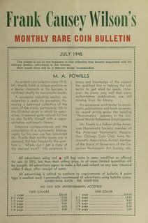 BIOGRAPHY: M. A. POWILLS