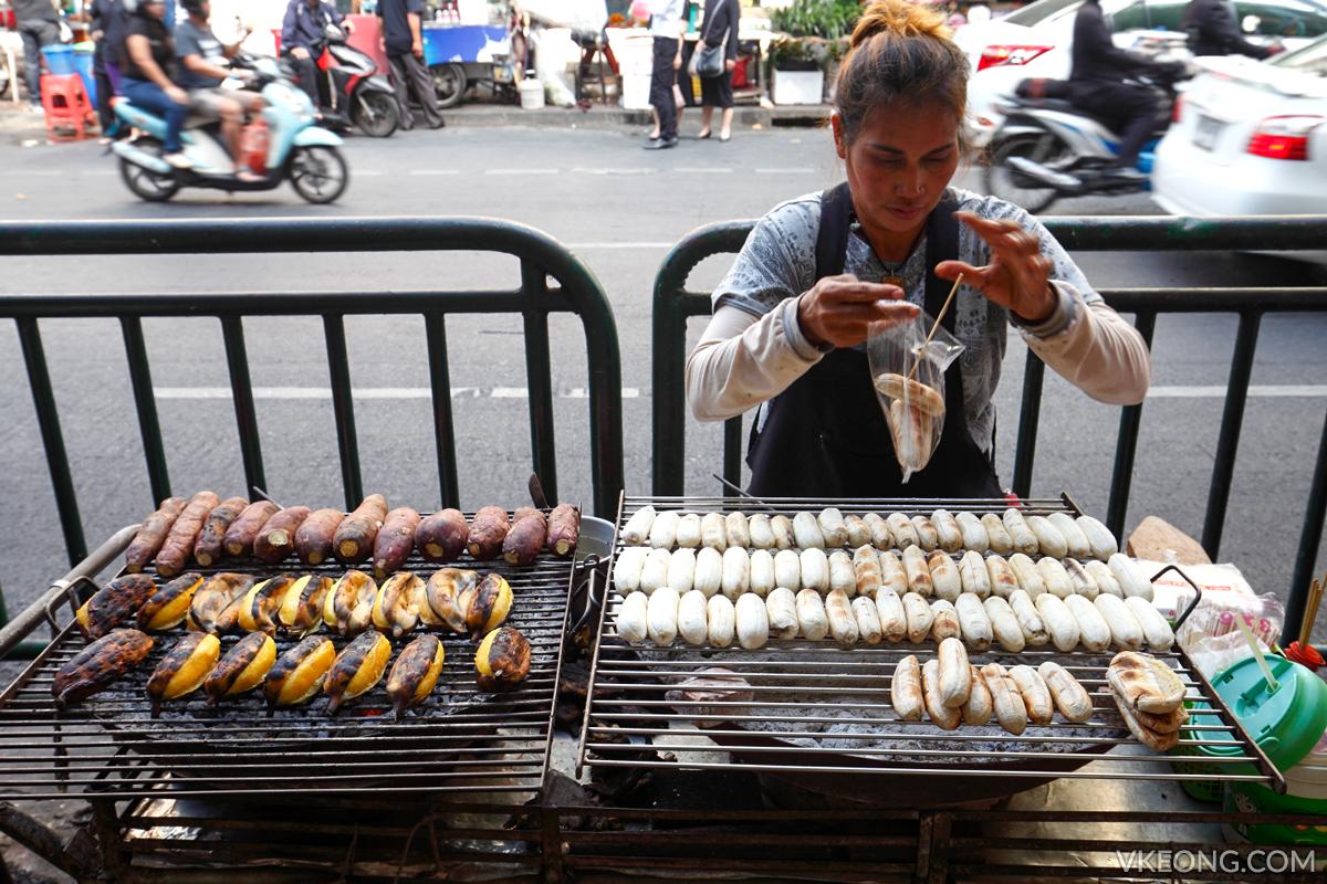 Bangkok Chinatown Yaowarat Grilled Banana Stall