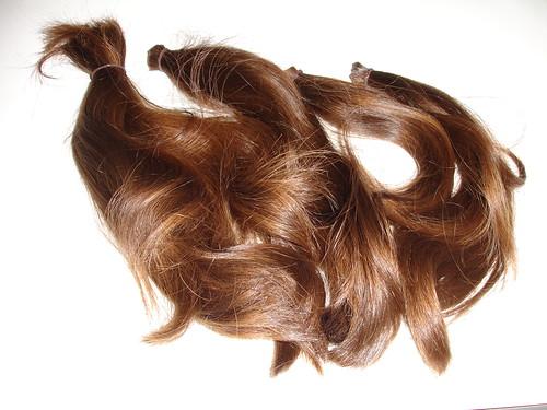 Hair donated to Locks of Love